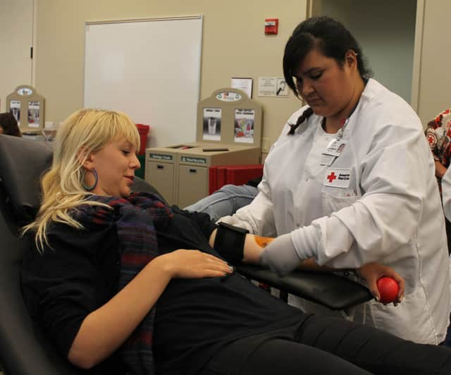 Washington Irving Intermediate School will hold a blood drive on Thursday in the school's cafeteria, from 1:30 - 7:30 p.m.