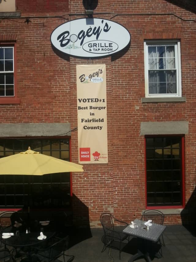 The new sign outside Bogey's Bar & Grille in Norwalk shows off its DVlicious pride.
