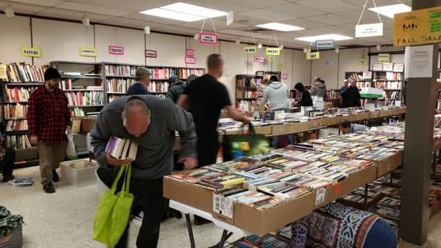 Friends of the Mount Pleasant Public Library are accepting donations for their annual book sale which runs from April 29 to May 2. Here is a photo of the fall sale.