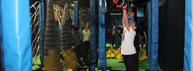 Bounce! Trampoline Sports in Valley Cottage has enlarged its facility and partnered with Hudson Pizza.