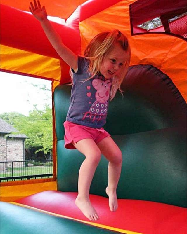 Bounce houses will be one of the Family Fund Day features -- as well as a rock wall, face painters and a dunk tank.
