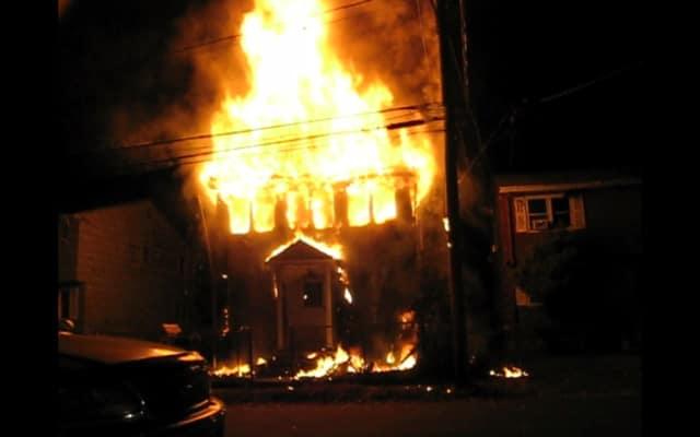 Two firefighters were injured battling the Bradley Street house fire in Bridgeport.