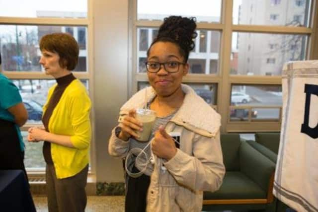 """Smoothies are just one of the healthy choices offered as part of the federal """"Breakfast After the Bell"""" program in schools."""