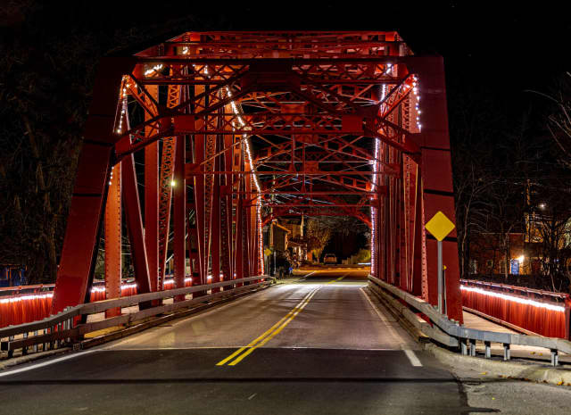 The red bridge on Hill Street in Saugerties.