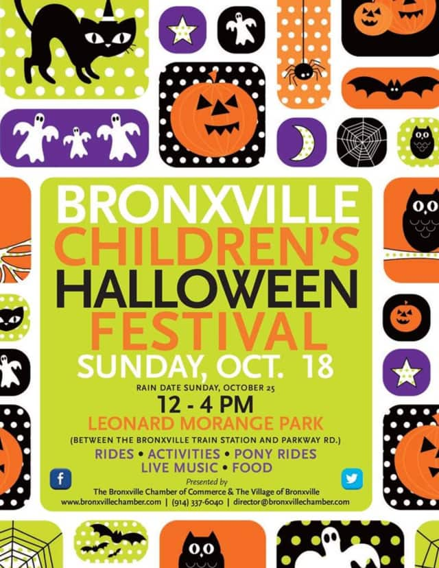 The 2015 Bronxville Children's Halloween Festival takes place Oct. 18.