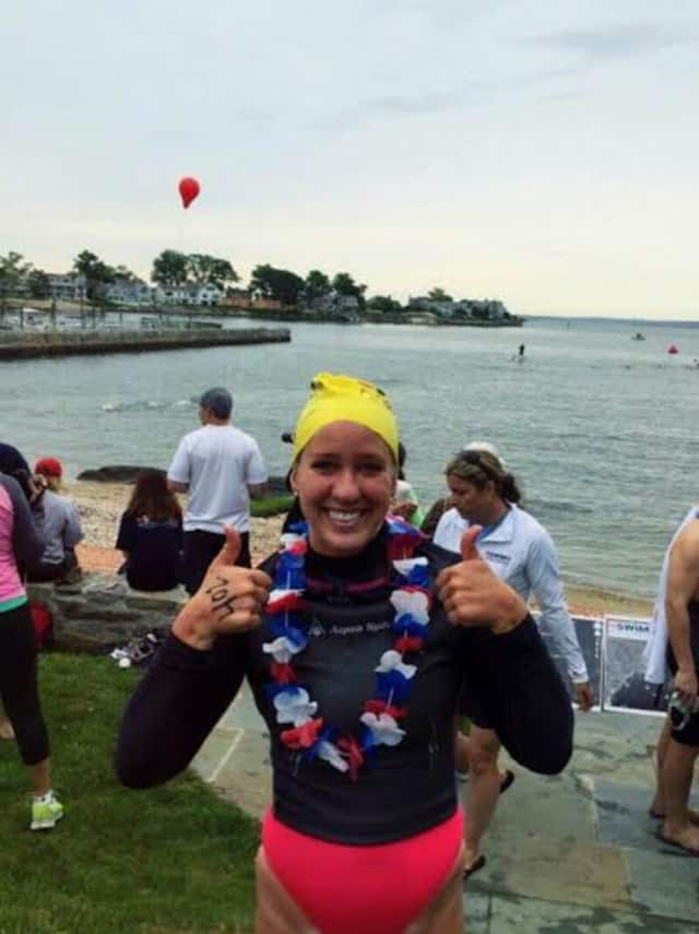 Brooke Lorenz, a native of Greenwich, will swim in Saturday's Swim Across America Greenwich/Stamford. She is six-year cancer survivor.