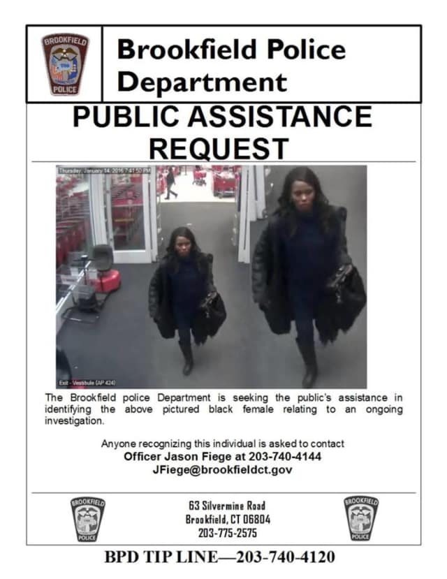 Brookfield Police Department wants to know the identity of the person in this photo.