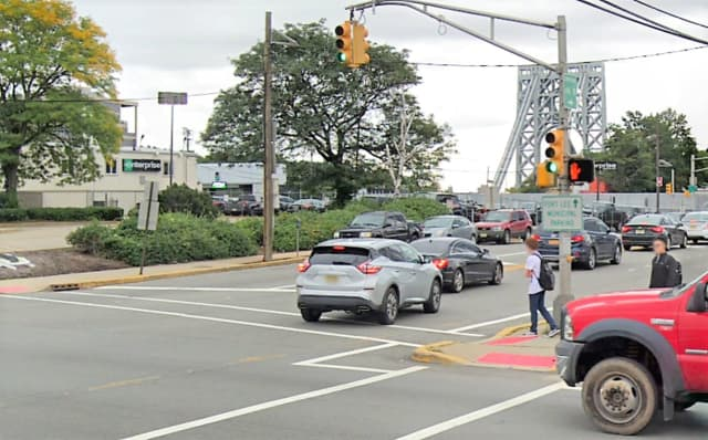 The driver made a left onto Bruce Reynolds Boulevard from southbound Lemoine Avenue when the van struck and killed the pedestrian, Fort Lee police said.