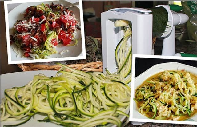 "Turning pasta noodles into ""zoodles"" -- which are sliced vegetables that look like noodles -- is a good way for Harrison's Can't Lose Diet clients to reduce their carbohydrate count."