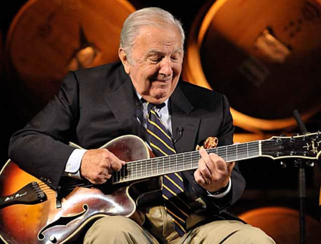 Bucky Pizzarelli and his quartet play Tuesday in Ridgewood at the Kassachau Memorial Band Shell.