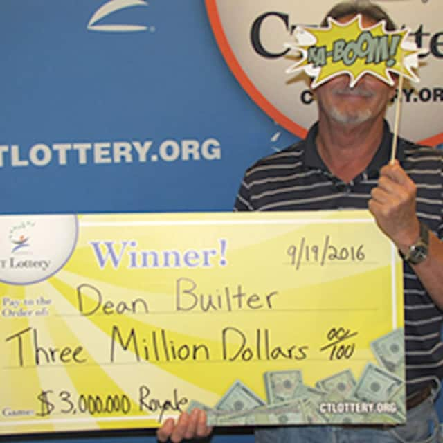 Dean Builter of Fairfield wins $3 million instantly from the CT Lottery in the Royale game.