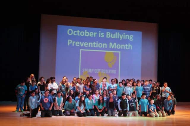 Peekskill Middle School stood against bullying by celebrating Blue Shirt Day.