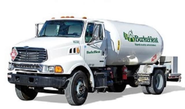 A Burke Heat oil truck like this fell into a sinkhole in Yorktown this week that was created by a water main break.