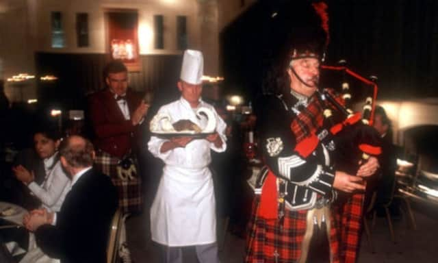 A Robert Burns Supper in England.