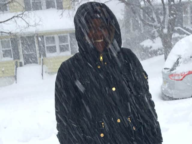 Lyndhurst resident Ariel Burgess wasn't about to let a little snow stop her from visiting a friend.