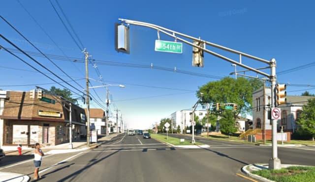 Broadway near East 54th Street in Elmwood Park.