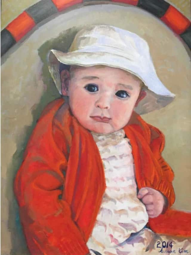 """This painting is among Fort Lee's Susan Kim's collection of """"Portraits"""" that will be in the library next month."""