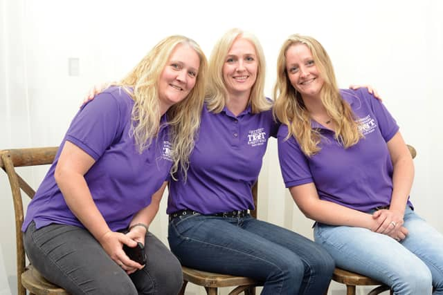 The Cartwright sisters, Tracey Sherwood, Jill Weis and Laura Dalrymple. Photograph by Bob Rozycki
