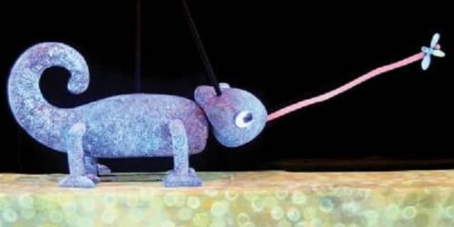 """Eric Carle's """"The Mixed-Up Chameleon,"""" and other works by the award-winning children's book illustrator, will be performed at the Emelin Theater in Mamaroneck."""