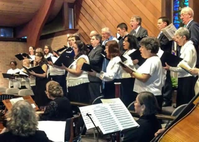 The Bach Vespers Chorus performed at a previous cantata at Grace Lutheran.