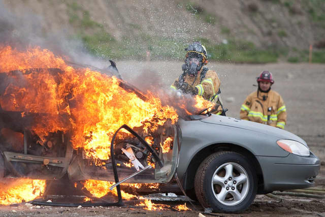 [generic pic of car on fire]