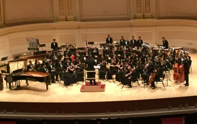 The Scarsdale High School Wind Ensemble performed for the fourth time at Carnegie Hall.