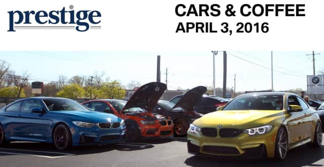 """A """"Car & Caffe"""" will be  hosted by Prestige BMW, along with Paramus Lamborghini and McLaren Bergen,  in Ramsey, N.J., on Sunday, April 3."""