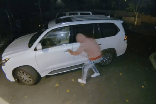 "Detectives were investigating leads, including using video surveillance from a resident whose vehicles, the chief said were locked -- ""and, therefore, not taken."""