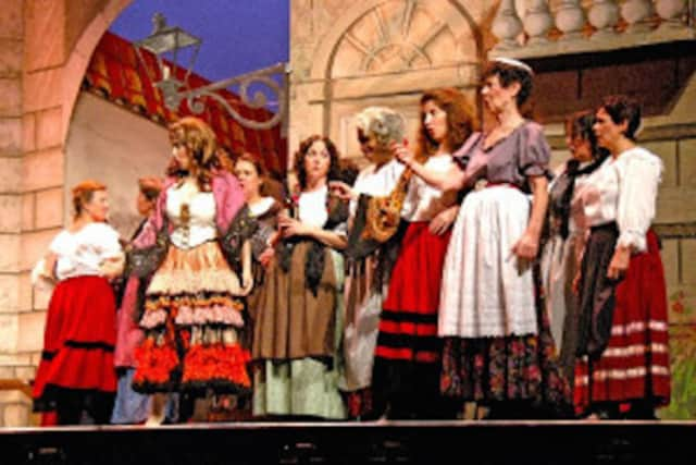 A scene from the New Jersey Association of Verismo Opera's production.