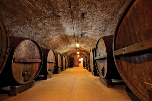 Tours take visitors through the cavernous underground cellars of Brotherhood, America's Oldest Winery in Washingtonville. Courtesy Brotherhood, America's Oldest Winery.