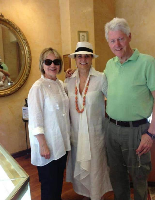 Varda Singer of ICD Contemporary Jewelry in Chappaqua is participating in Small Business Saturday. Her unique selection and design attracts special guests like 2016 presidential hopeful Hillary Clinton and former President Bill Clinton.