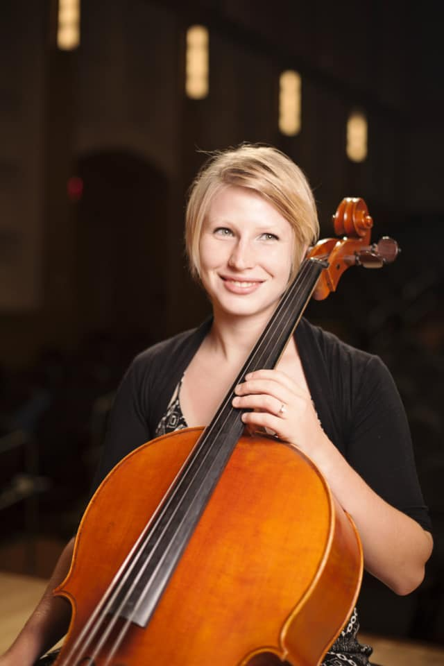 Cellist Chloe Perret Carrozza will perform at the Westchester Oratorio Society's annual fall event entitled Nov. 1 at the Parish Hall of St. Matthew's Episcopal Church in Bedford.