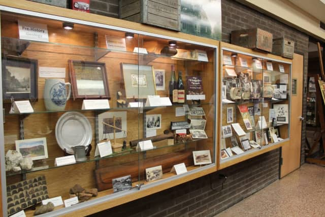 A display, part of the Clarkstown 225th anniversary exhibit.
