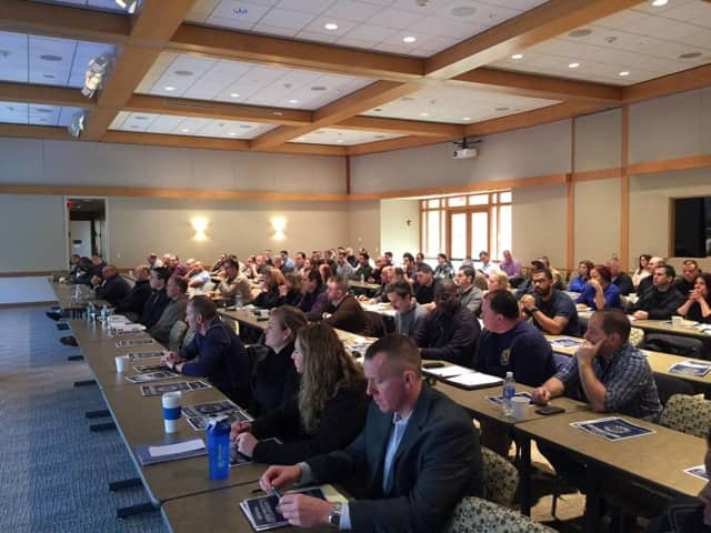 More than 110 officers attended the Clarkstown Police Department's two-day seminar on arresting communications.