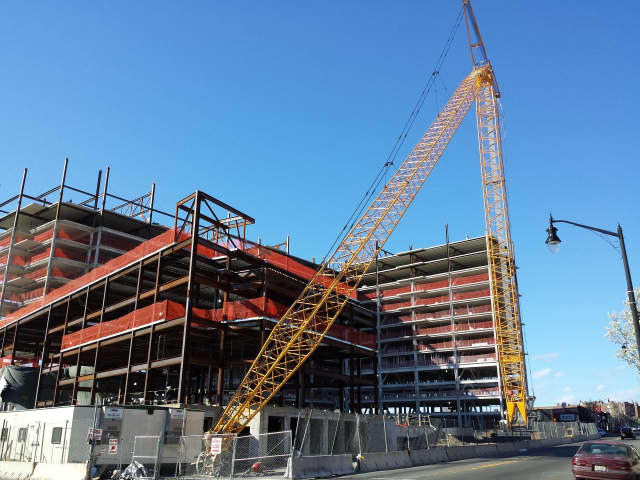 Cliffside Park Towne Center continues to rise.