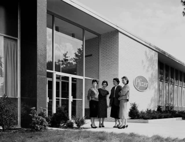 The Clifton Pfizer facility, circa 1958. Pfizer has a long history in the Garden State but a recent merger with Ireland-based Allergan is causing the state to review its tax laws.