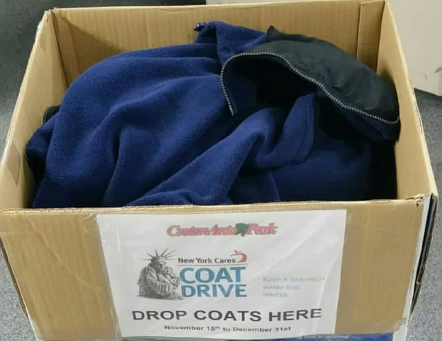 Croton Auto Park, a car dealership and service center in Croton-on-Hudson, is teaming up with New York Cares to gather and distribute warm winter coats for the needy.