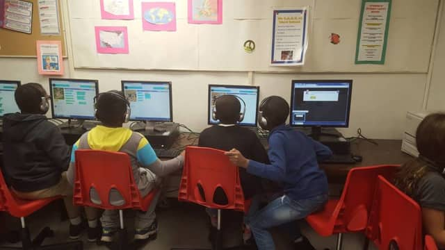 Students and learn about coding at the Glen Rock Library.