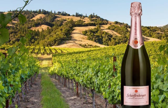 Scharffenberger Cellars' Brut Rosé Excellence makes a sophisticated choice for summer entertaining. Courtesy Scharffenberger Cellars.