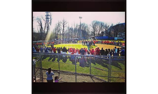 The scene at Haverstraw Little League Opening Day.