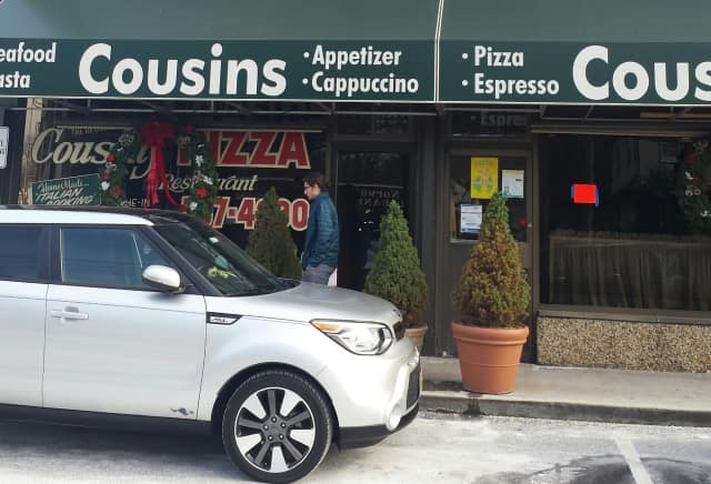 At Cousins Pizzeria on Thursday.