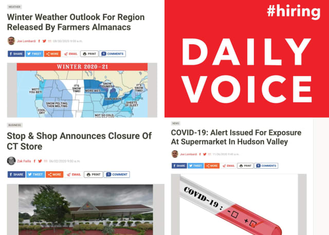 Daily Voice is looking for new content producers to join our award-winning team.