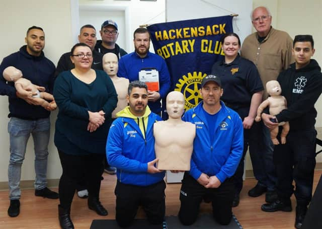 HVAC provided CPR training to Hackensack Jr. Soccer Association Coaches on March 19.