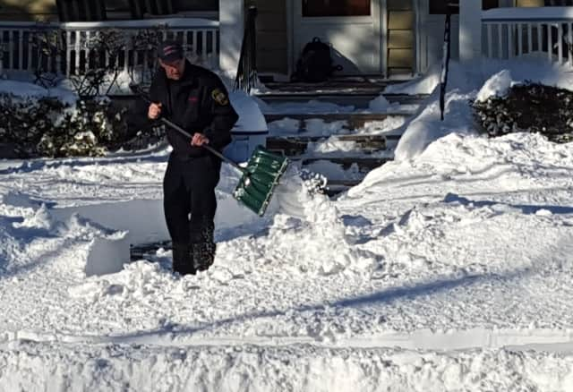 Keep the snow out of the street, police warn.