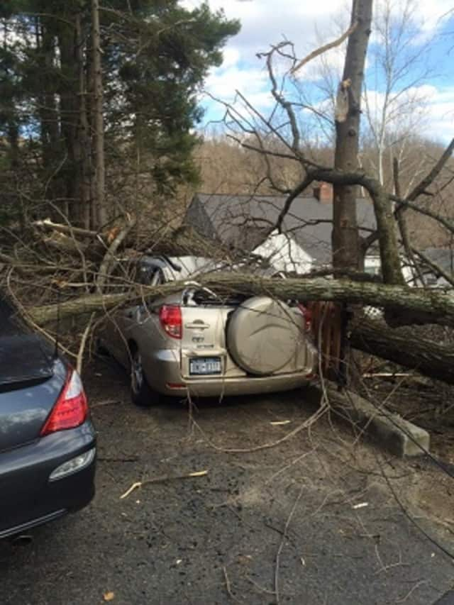 Among the many incidents the Croton-on-Hudson Fire Department responded to Monday was a report of a fallen tree on Old Post Road South. The tree took down electrical wires and damaged two parked cars, fire officials said.