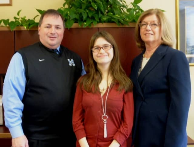 L to R: Mr. John P. Pascale, Principal, Deanna Altomara, Mrs. JoAnn Barnard, Guidance Counselor