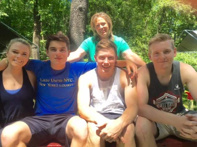 The volunteers Olivia McKay, Rohan Hawkins, Jake Debono and Max Bryant.