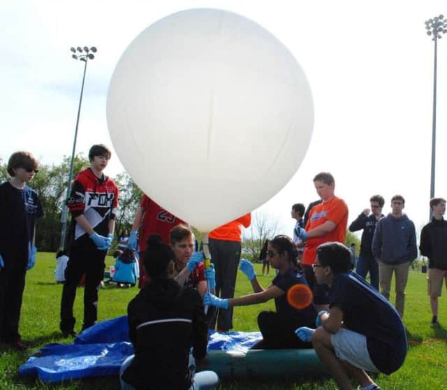 Westside Middle School Academy recently built and launched two weather balloons.