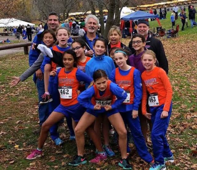 Members of the Danbury Flyers take a team photo at the race.