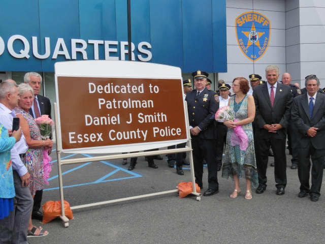 Officials gathered Wednesday to dedicate a stretch of I-280 to the memory of a police officer killed in the line of duty 35 years ago.